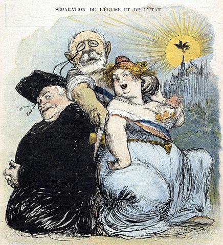 séparation de l'Église et de l'État caricature