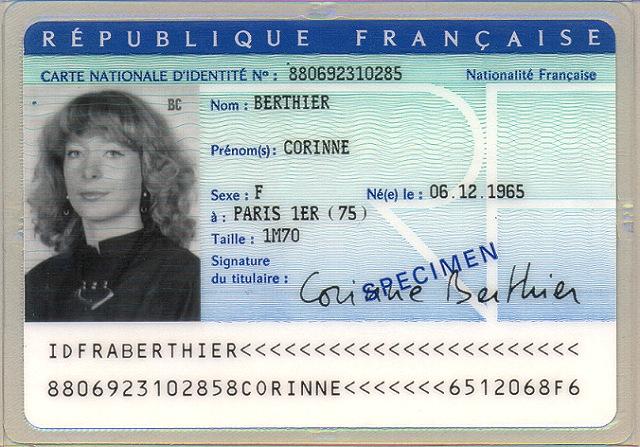 EMC Carte d'identité République française France