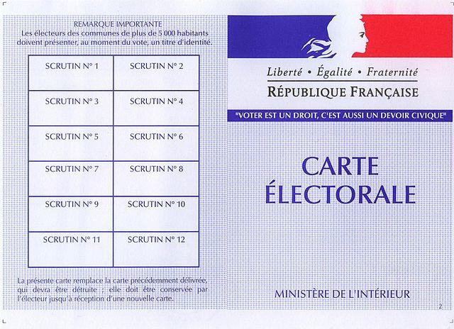 EMC Élections Carte électorale France Citoyenneté