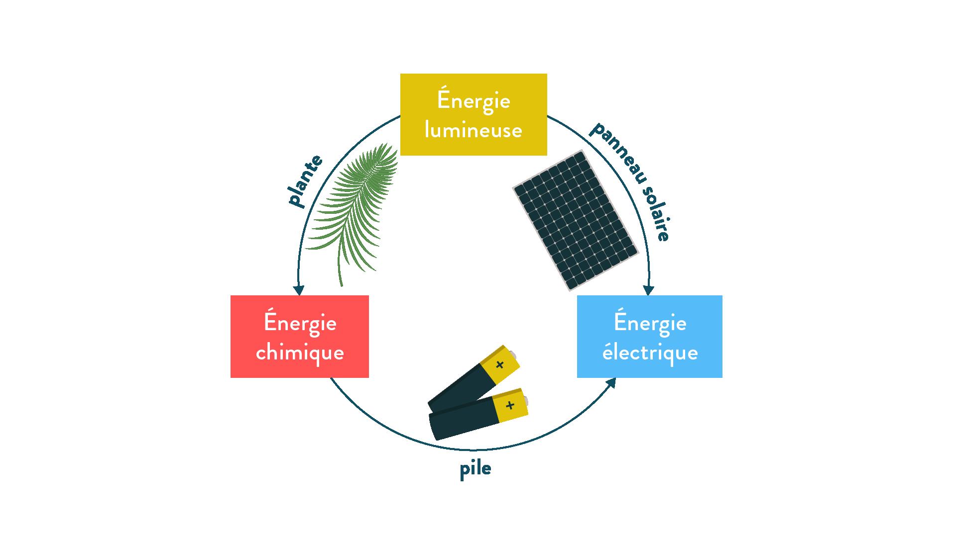 Exemples de conversions d'énergie