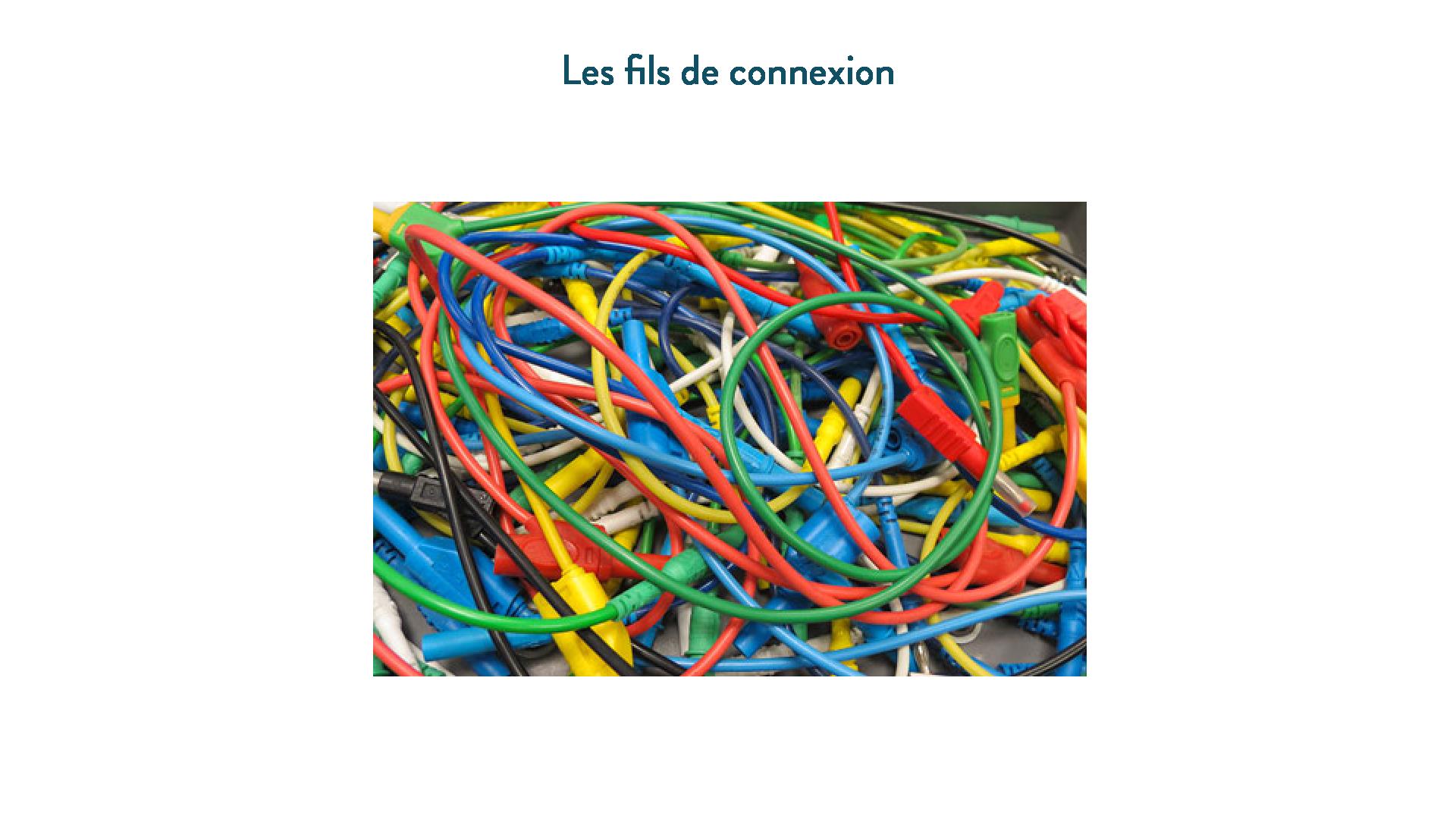 Les fils de connexion