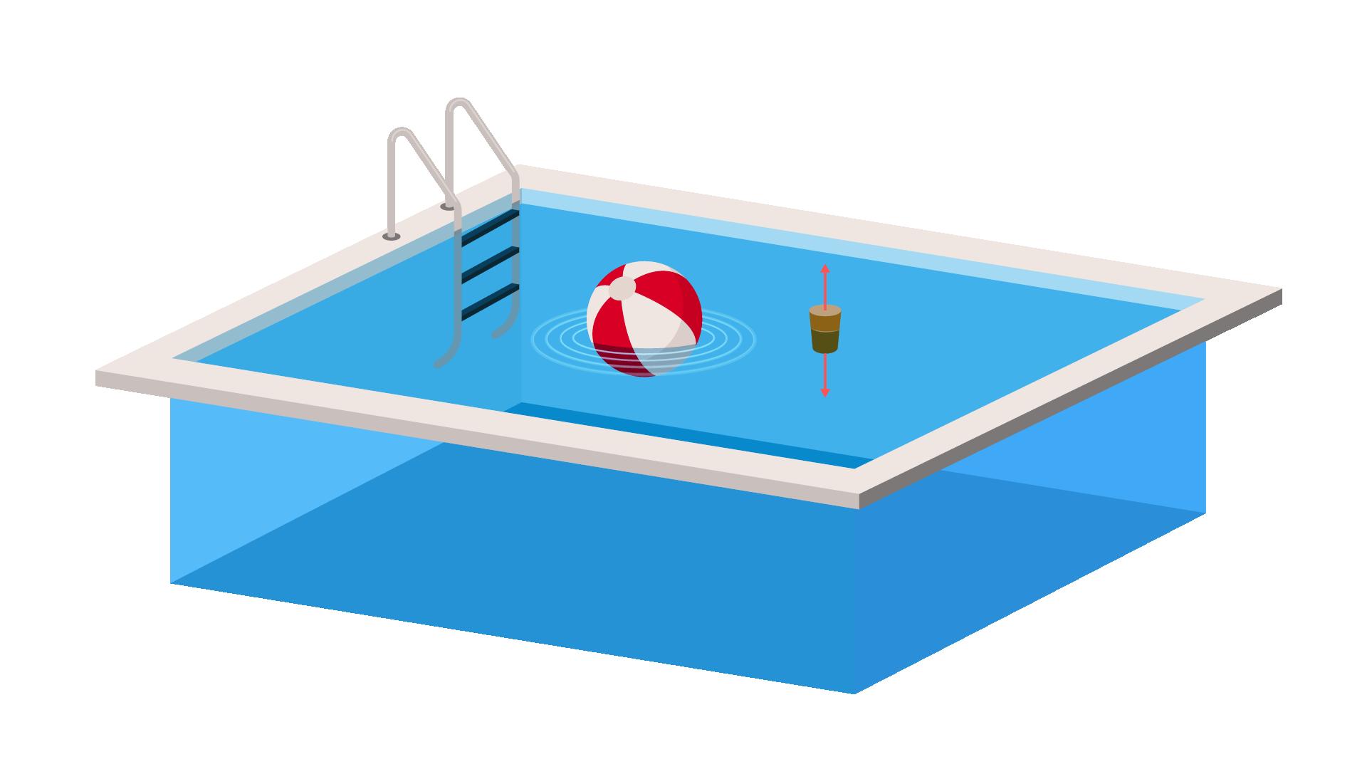 Onde dans une piscine