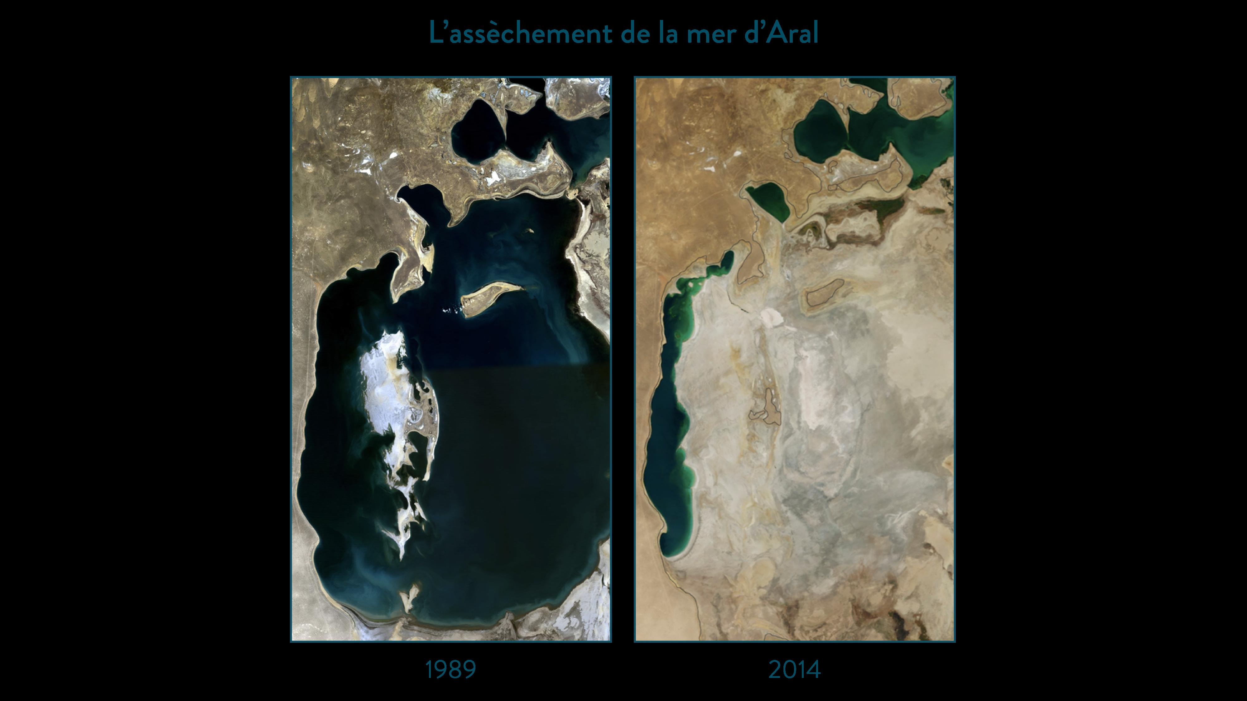 L'assèchement de la mer d'Aral