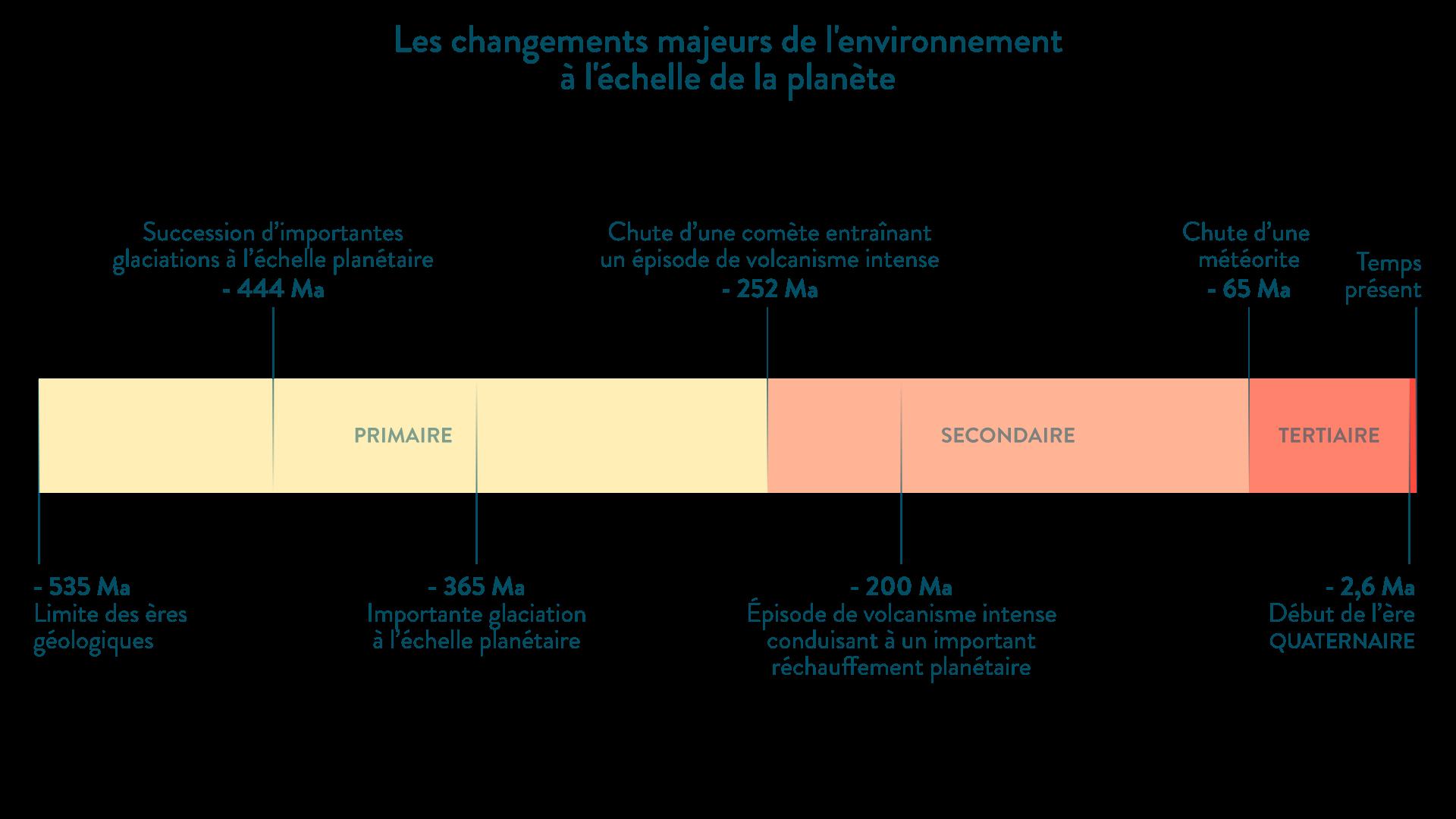 Les changements majeurs de l'environnement à l'échelle de la planète