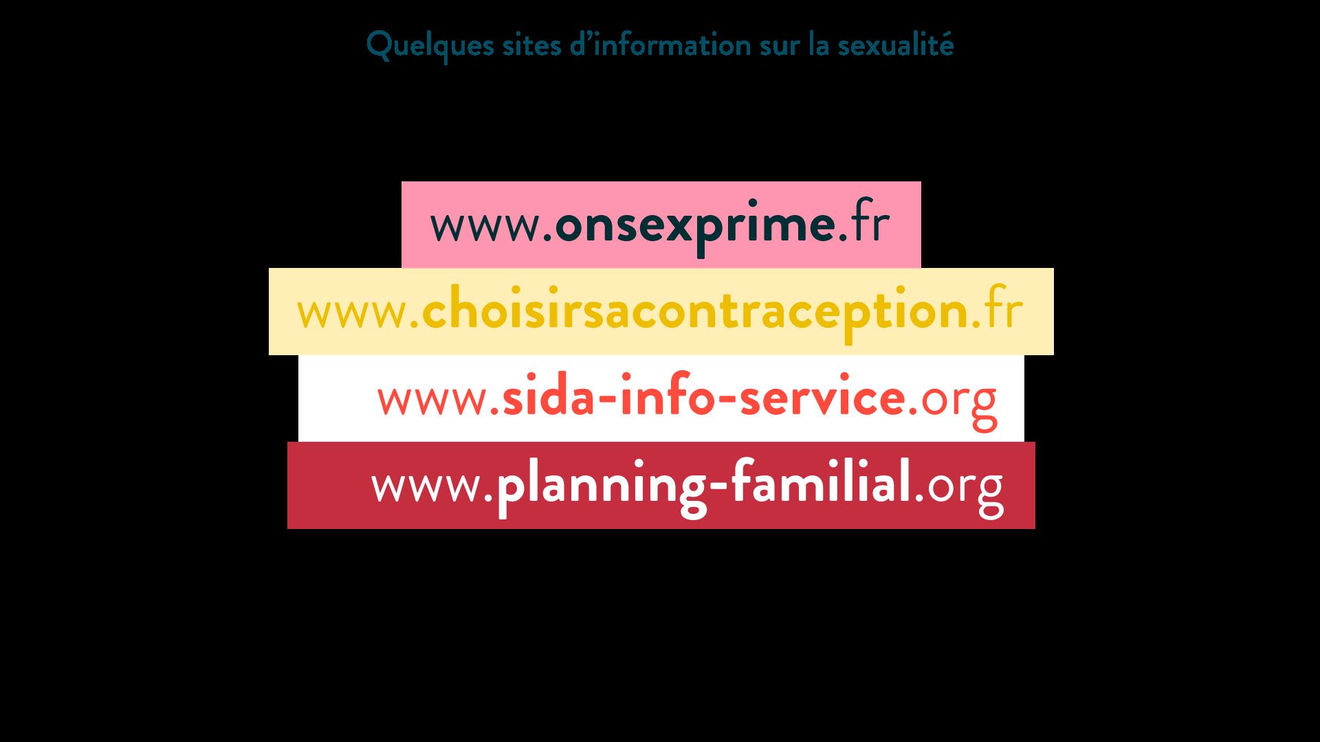 Quelques sites d'information sur la sexualité
