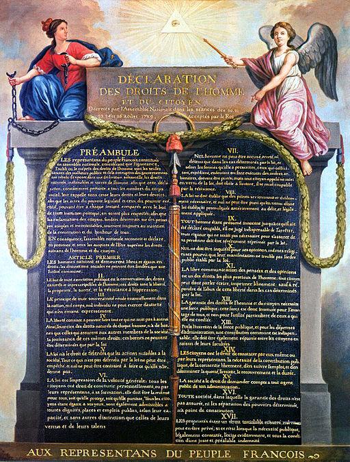 Déclaration des droits de l'Homme et du citoyen 1789