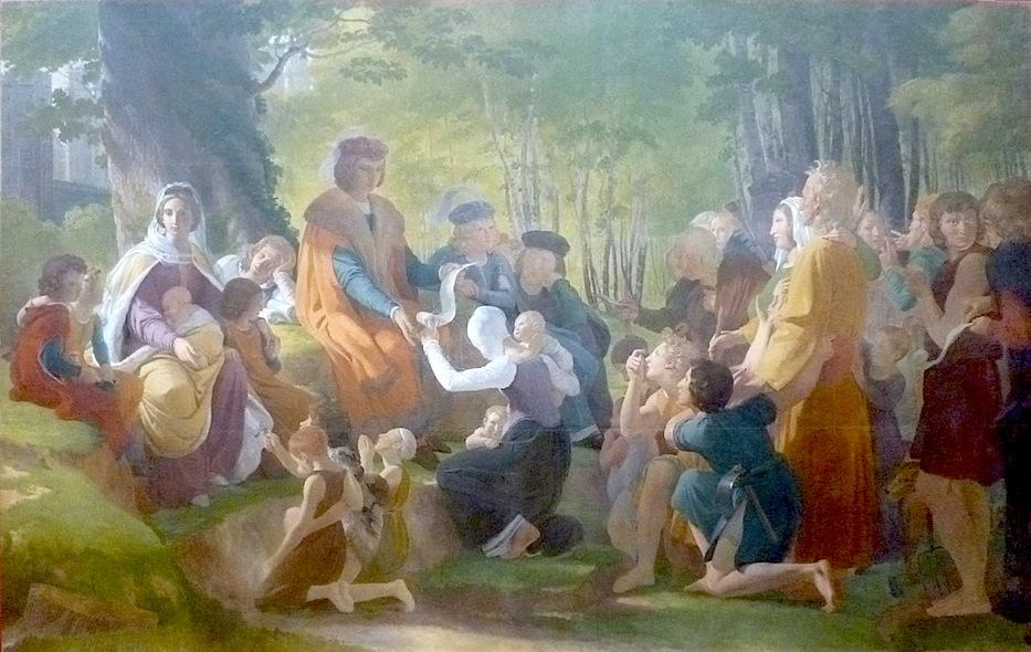 Saint Louis rendant la justice sous le chêne de Vincennes,Pierre-Narcisse Guérin, 1816,musée des beaux-arts d'Angers.