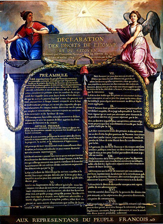 La Déclaration des droits de l'homme et du citoyen, Jean-Jacques-François LeBarbier, musée Carnavalet, France, 1789