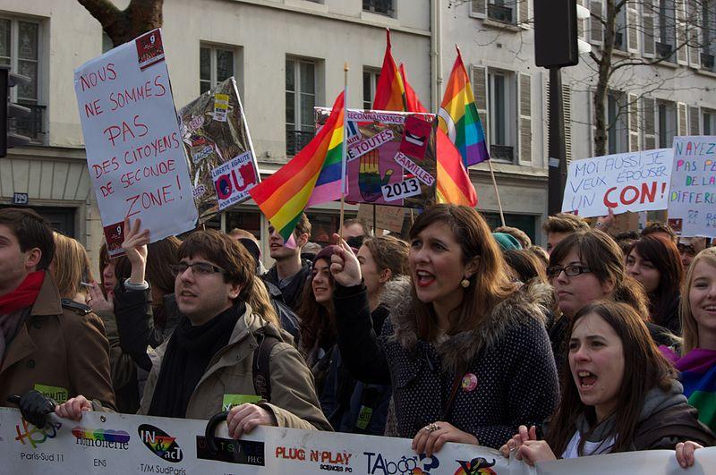 Manifestation en faveur du mariage homosexuel en France