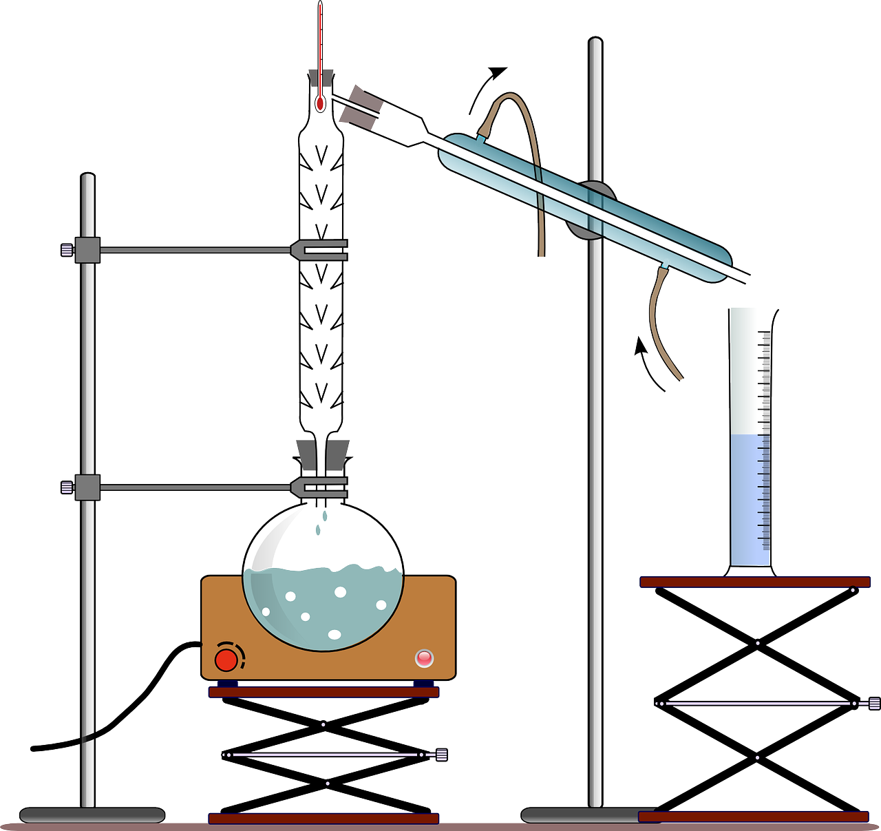 Montage distillation fractionnée