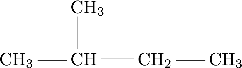 Molécule 2-méthylbutane