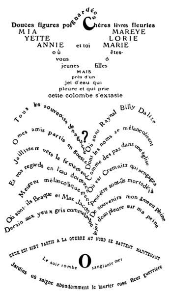 calligramme apollinaire
