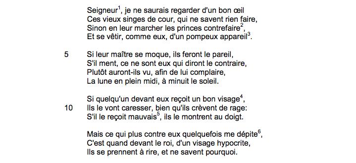 Joachim Du Bellay, « Seigneur, je ne saurais regarder d'un bon œil…», sonnet 150, <em>LesRegrets</em>, 1558