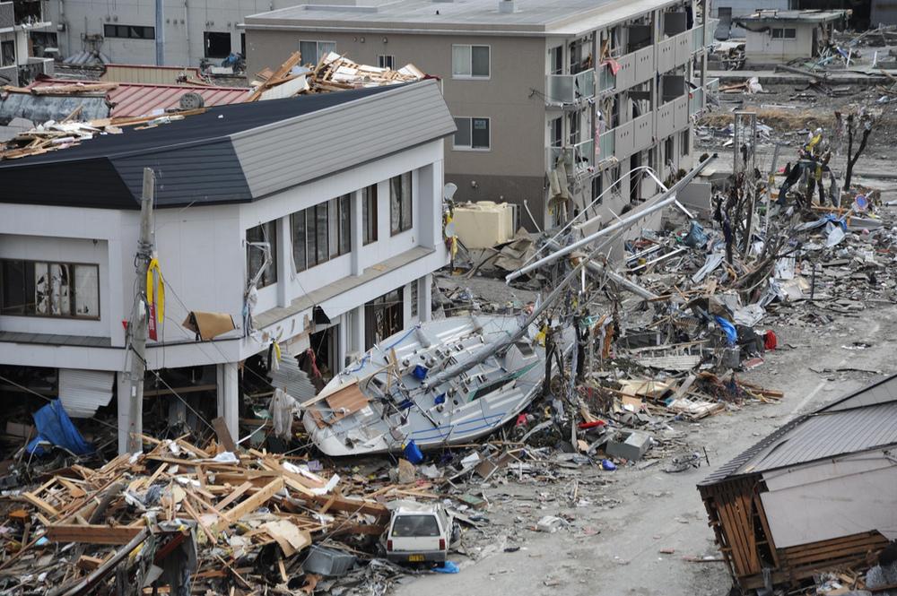 Les dégats causés par le séisme et le tsunami au Japon en 2011