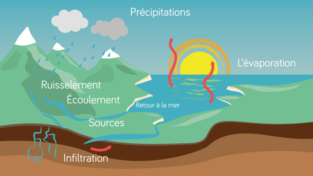 Le cycle de l'eau géographie seconde