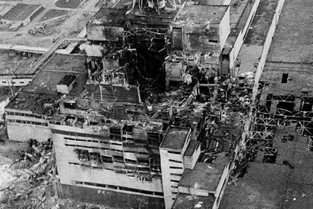 La centrale de Tchernobyl après l'accident