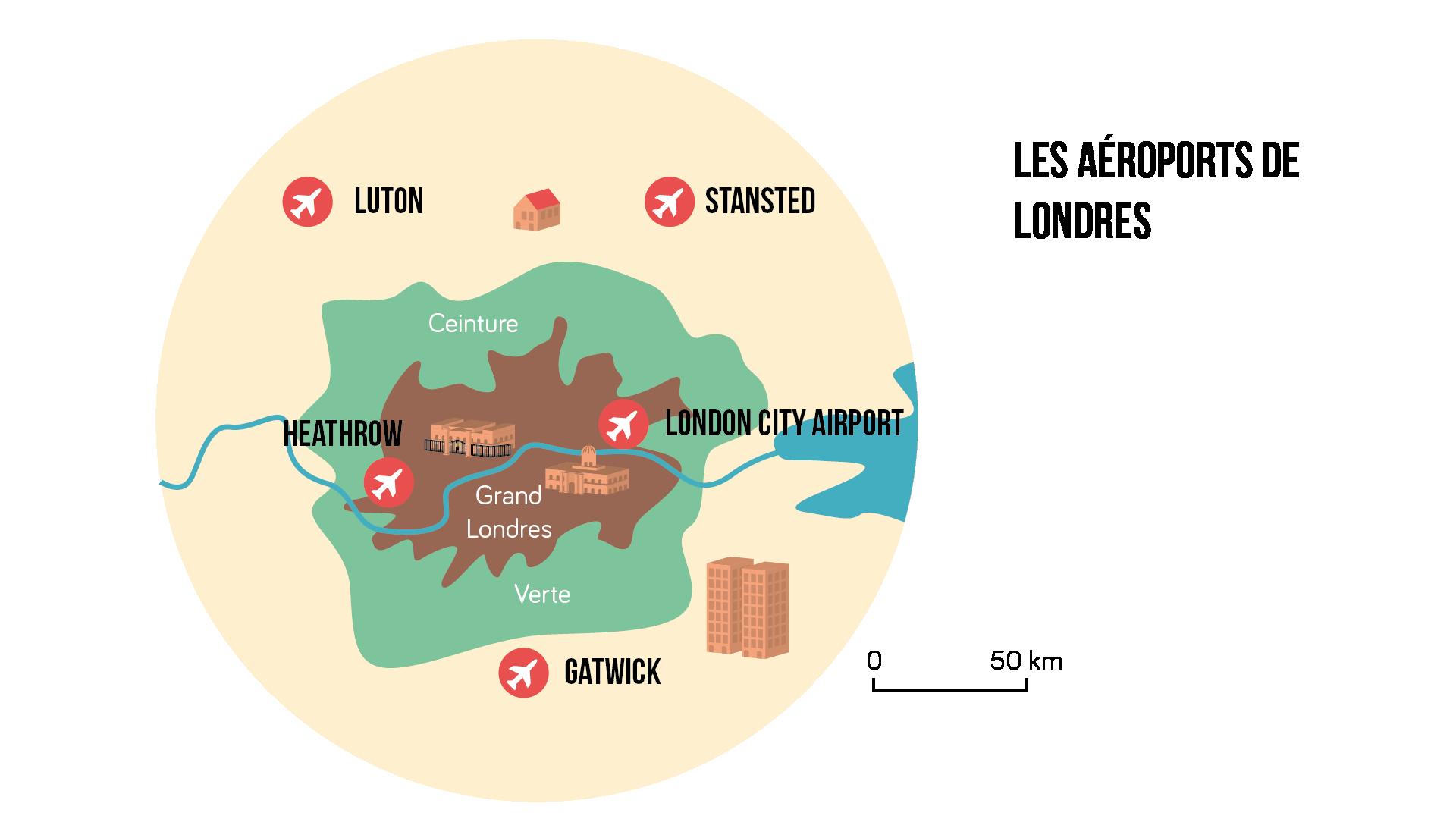 Les aéroports de Londres Géographie seconde