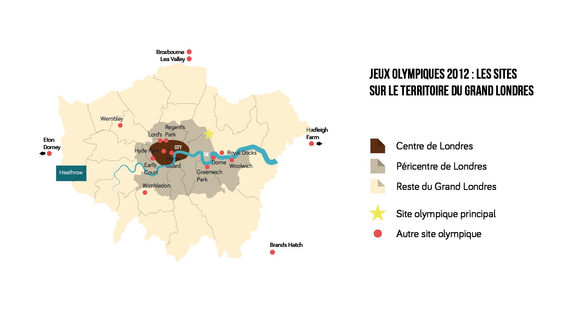 Jeux Olympiques 2012 : les sites sur le territoire du grand Londres Géographie seconde