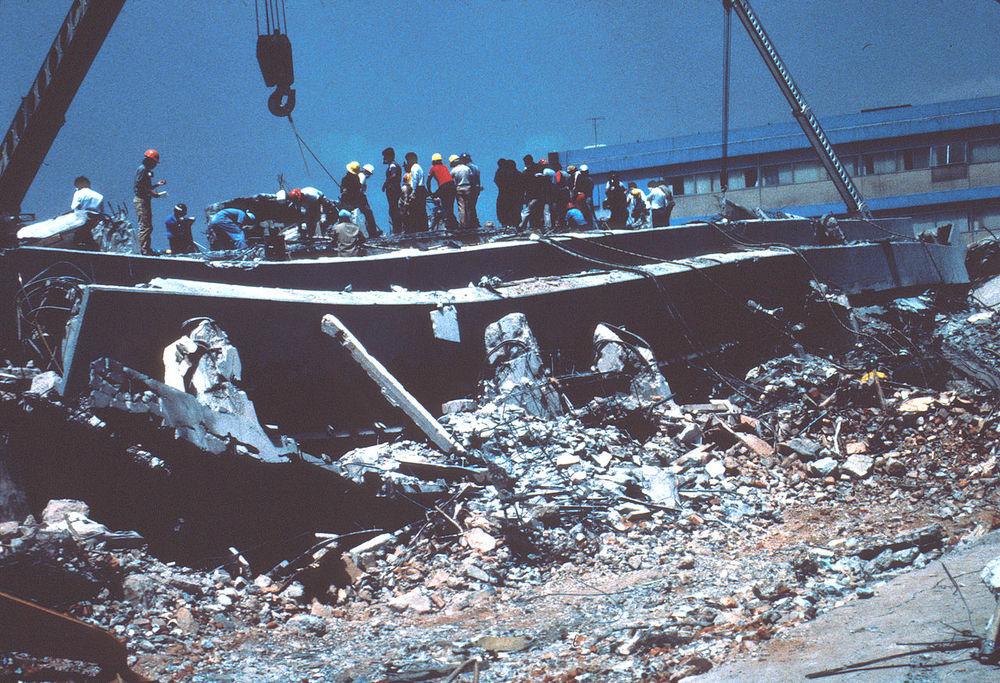 Un aperçu des dégâts après le séisme de 1985
