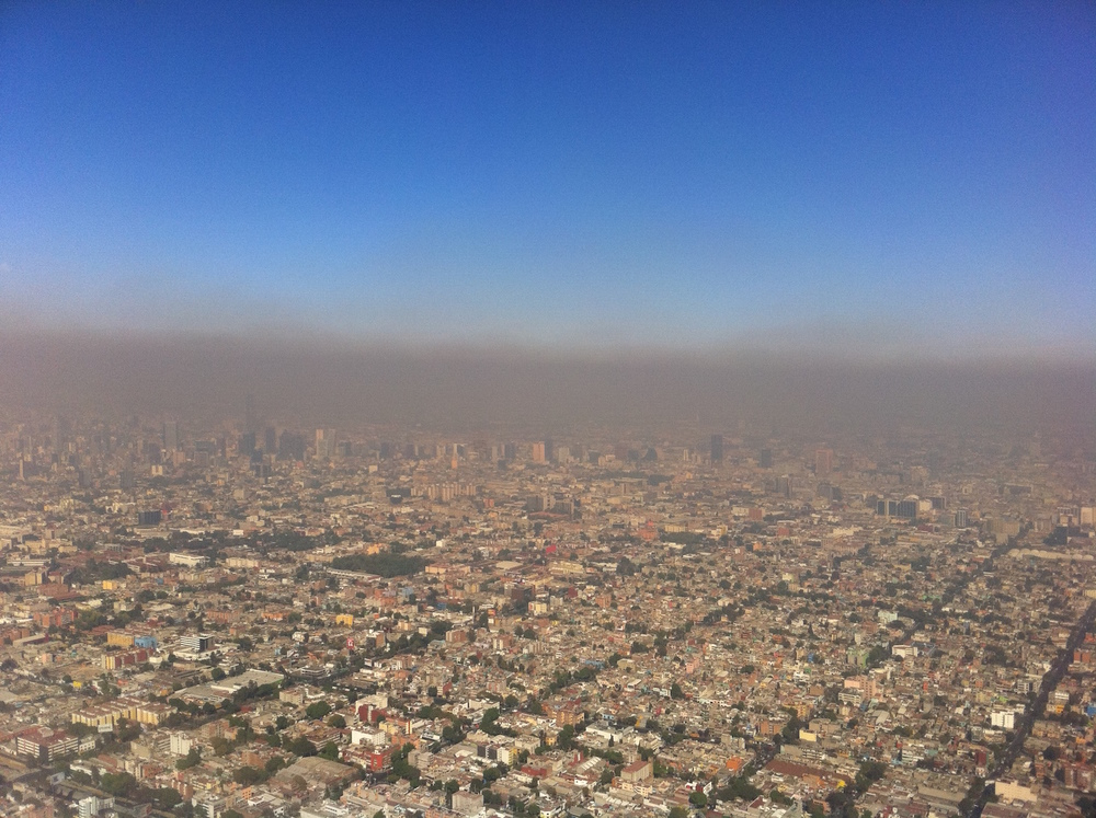 Illustration de la pollution à Mexico