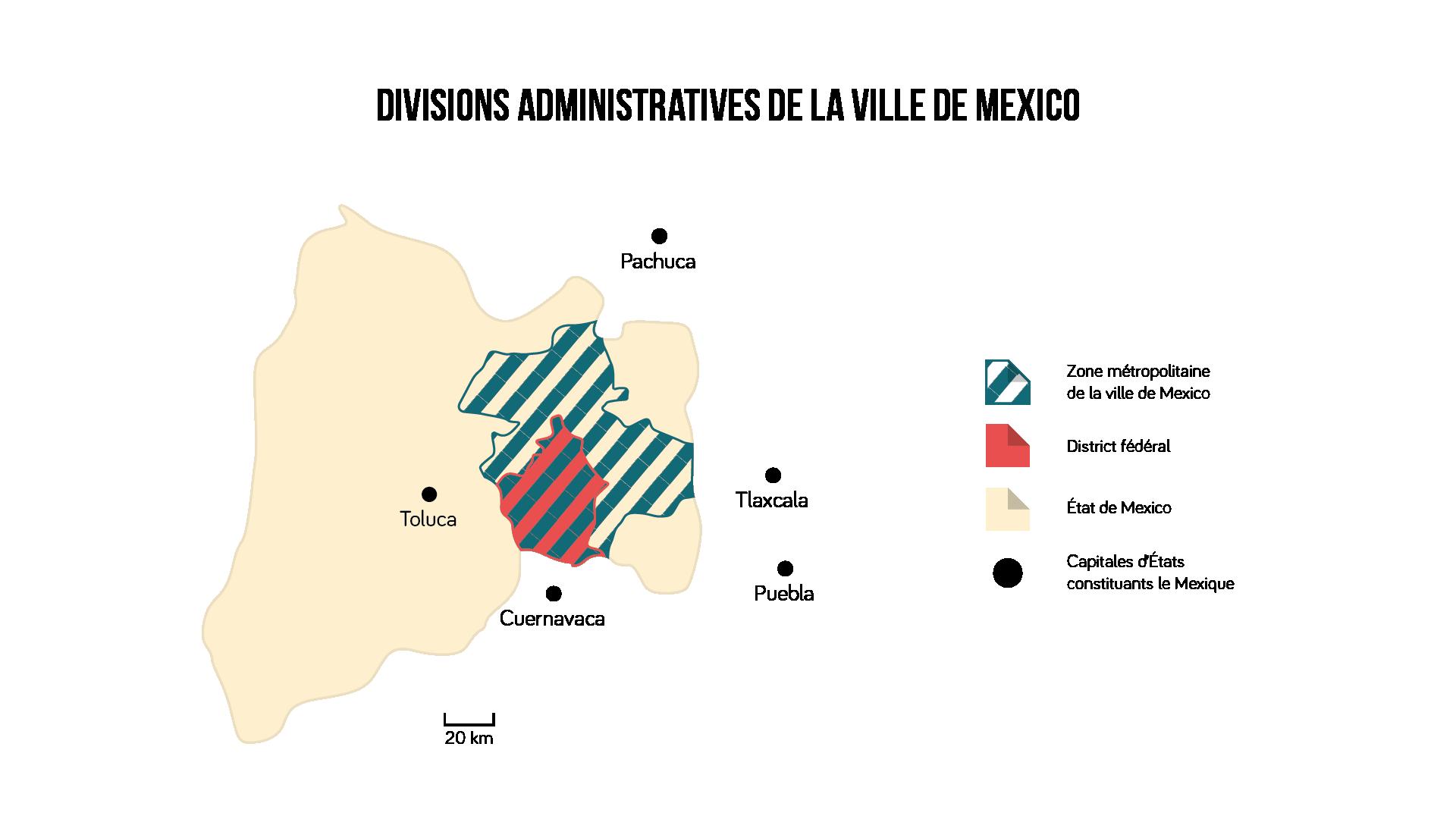 Divisions administratives de la ville de Mexico Géographie seconde