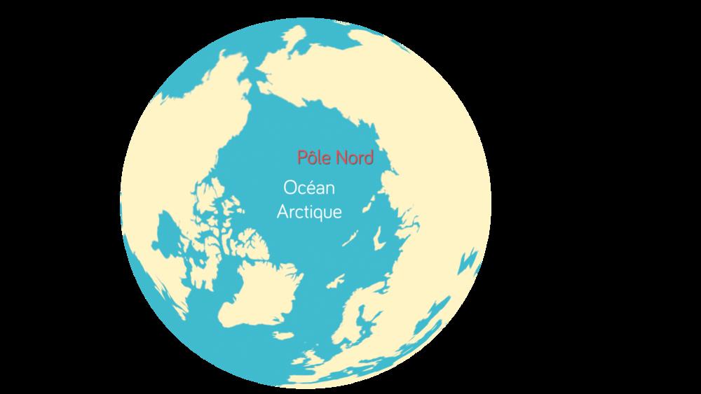 La localisation de l'océan Arctique Géographie seconde