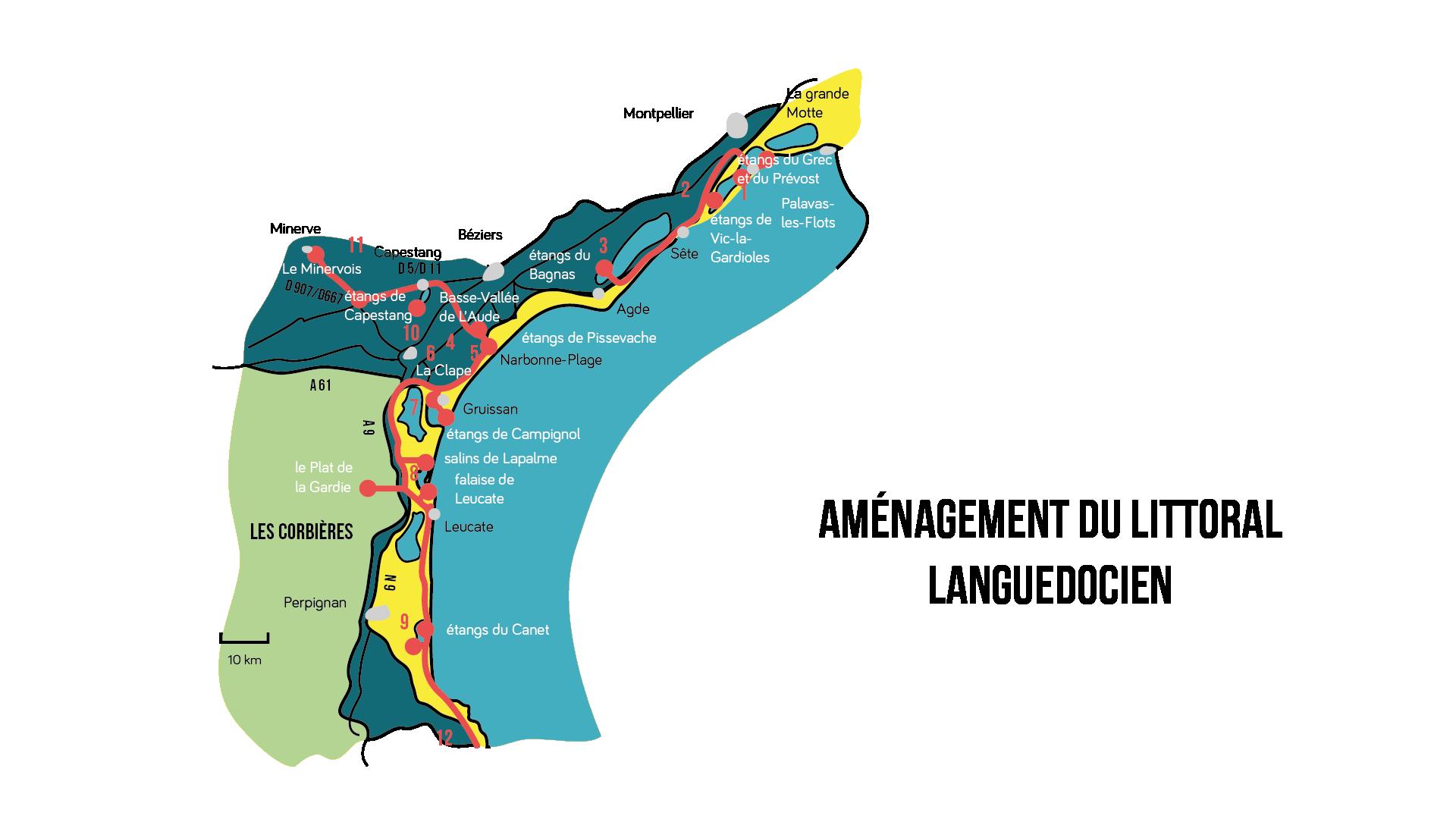 Aménagement du littoral languedocien Géographie seconde
