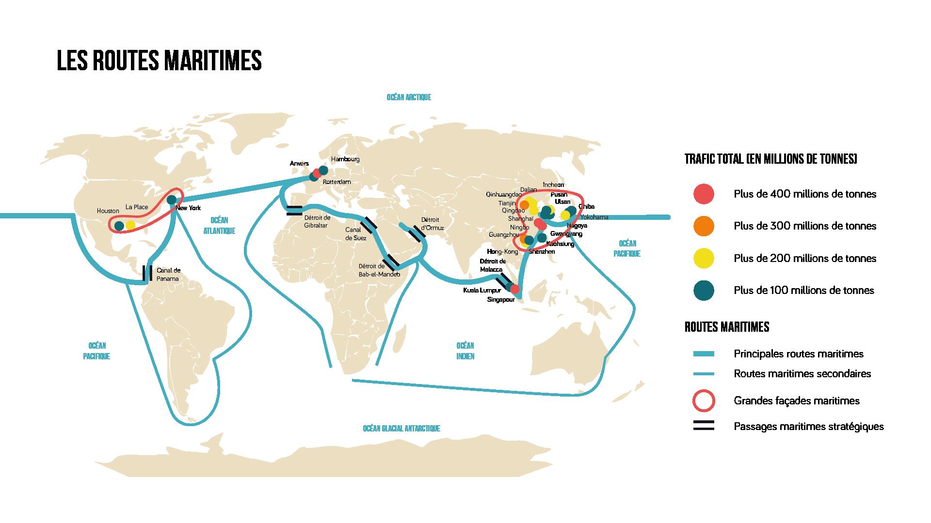 Les routes maritimes Géographie seconde