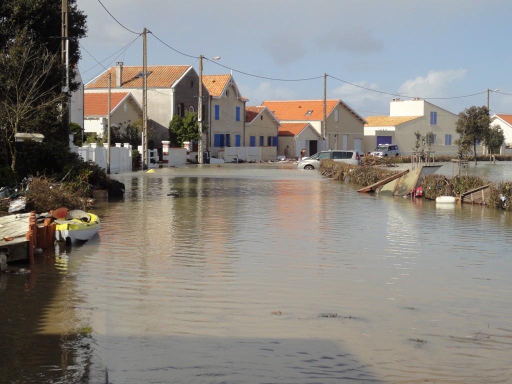 Un exemple des dégâts occasionnés par la tempête Xynthia