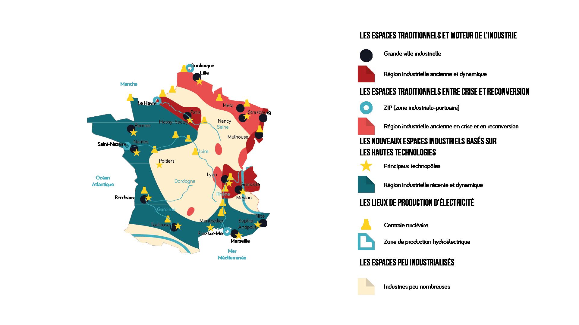 L'espace industriel français géographie 3e