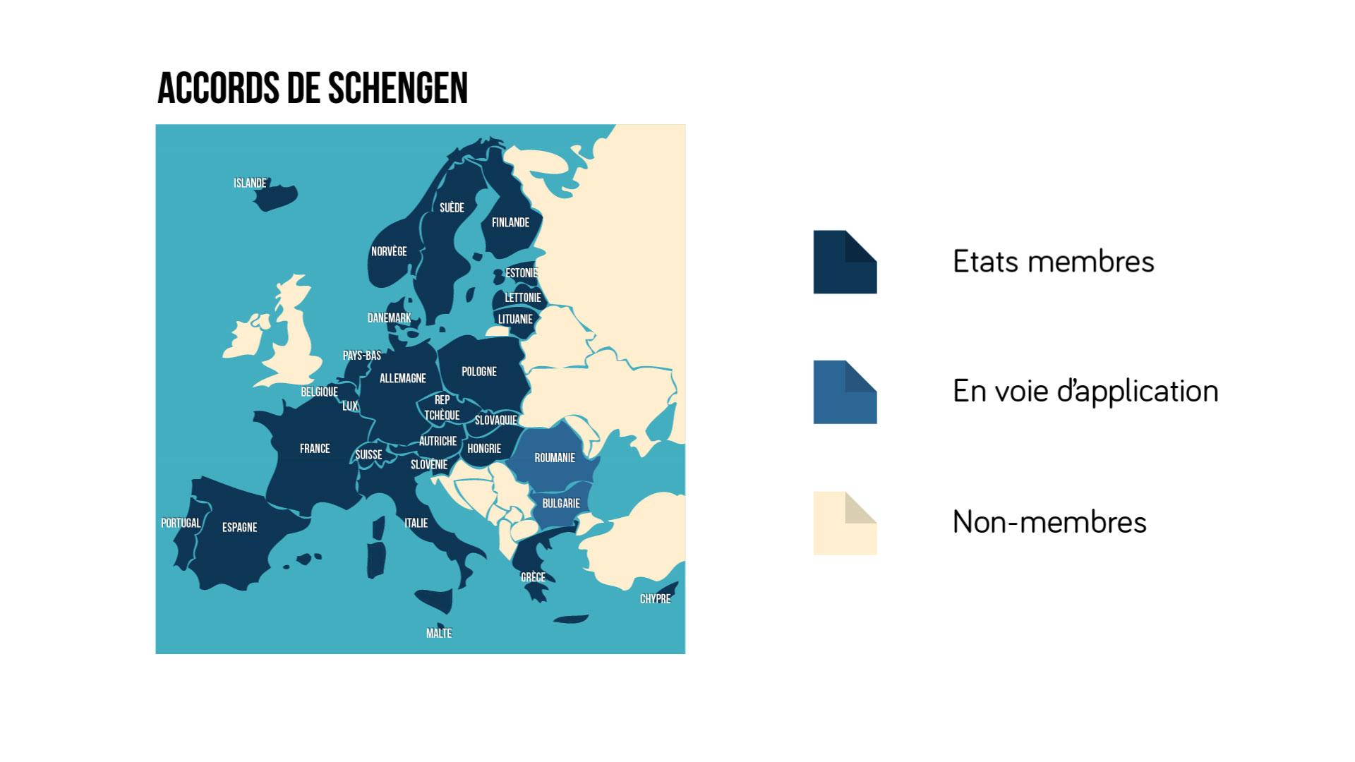 Les accords de Schengen - géographie 3e