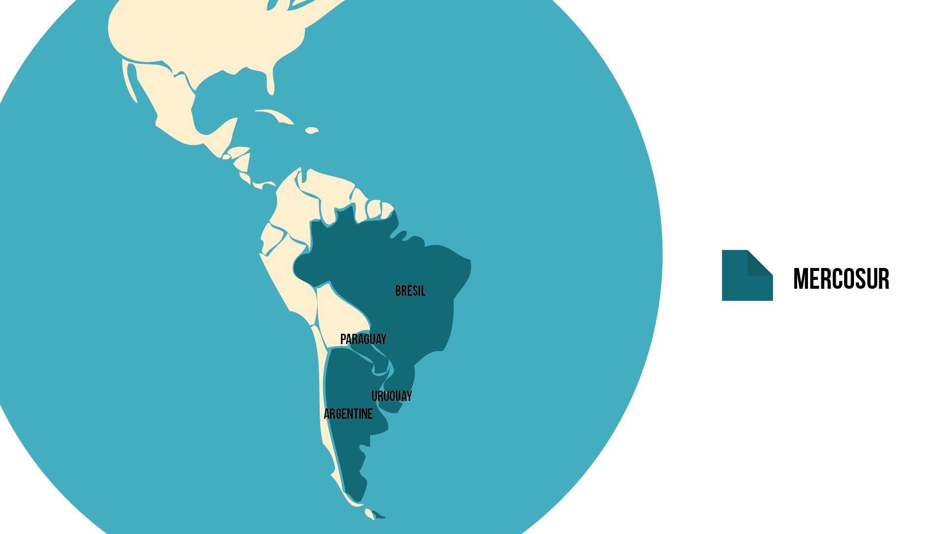 Géographie terminale Carte du Mercosur
