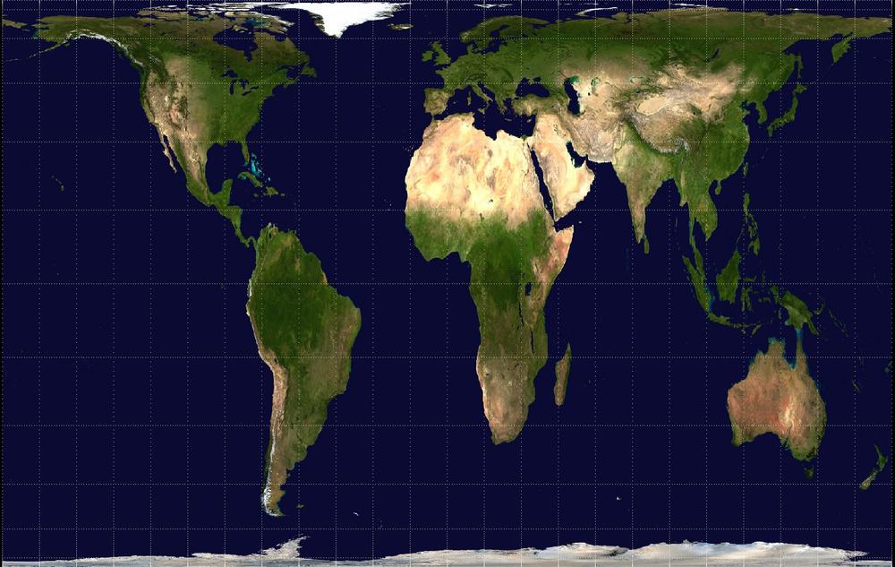 Planisphère de Peters