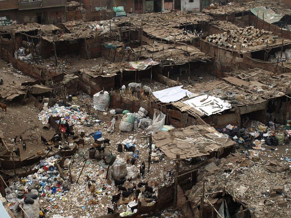 Photo de bidonville au Caire, en Égypte