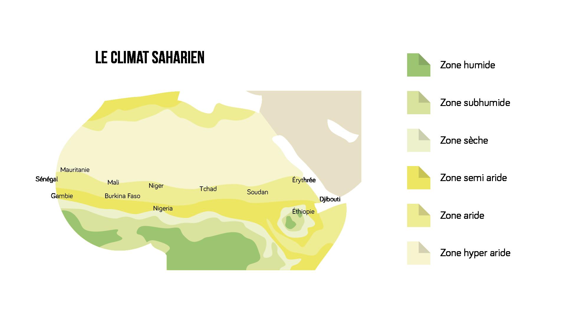 Carte du Climat Saharien