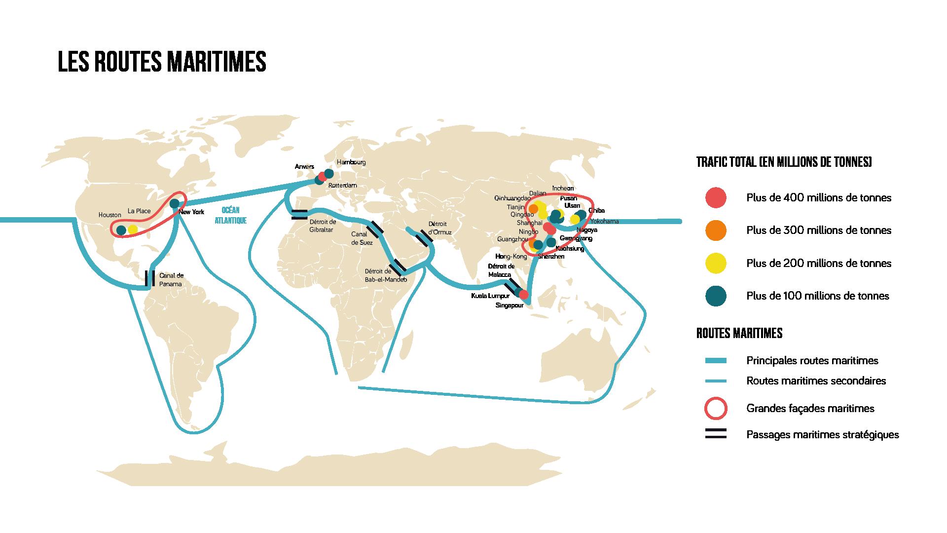 Carte des routes maritimes