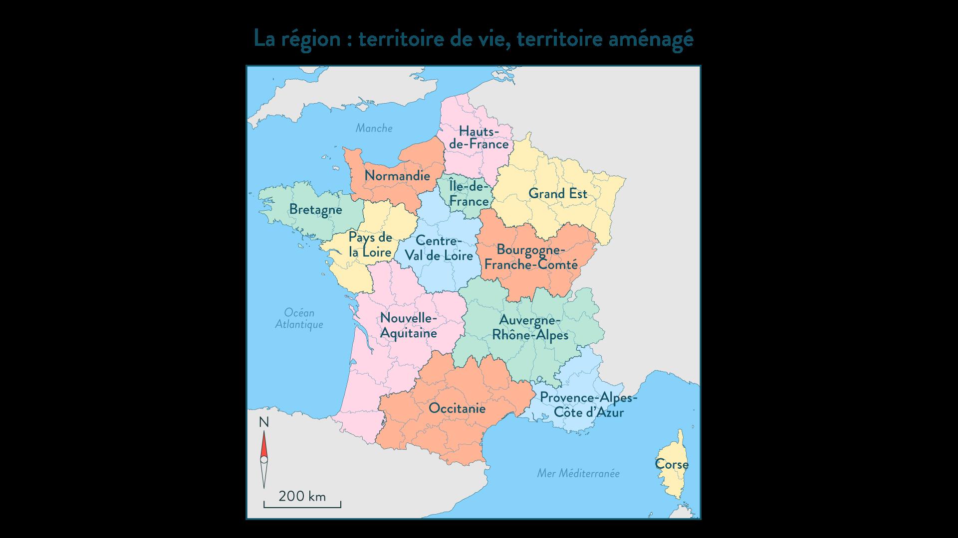 La région : territoire de vie, territoire aménagé