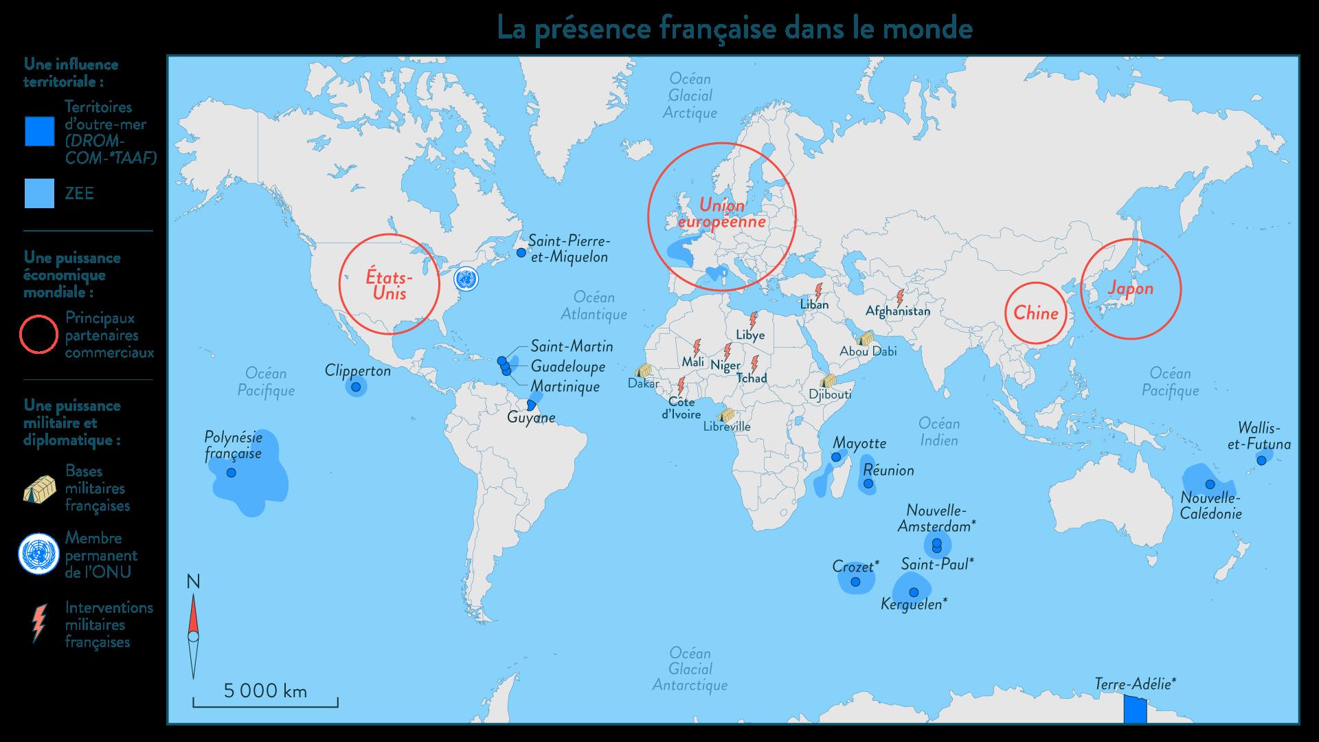 La présence française dans le monde