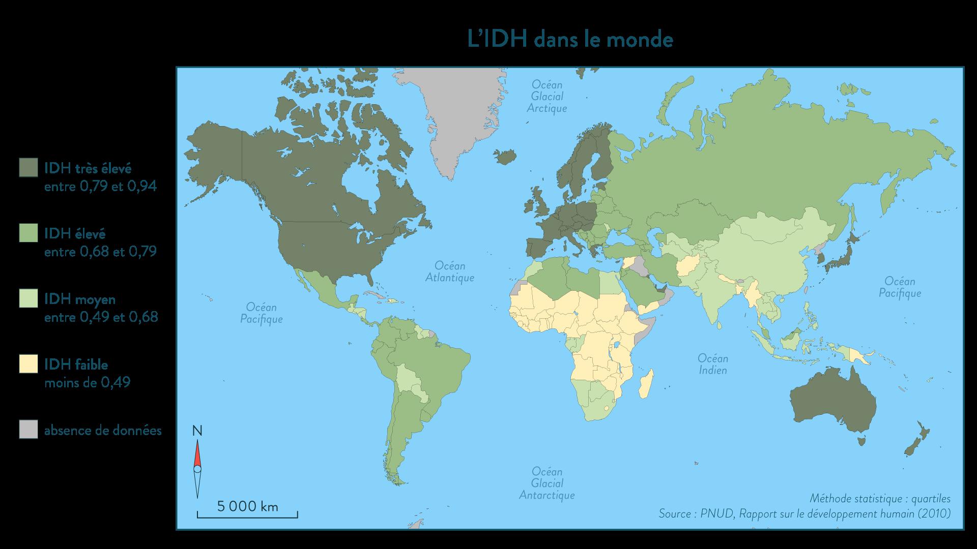 L'IDH dans le monde