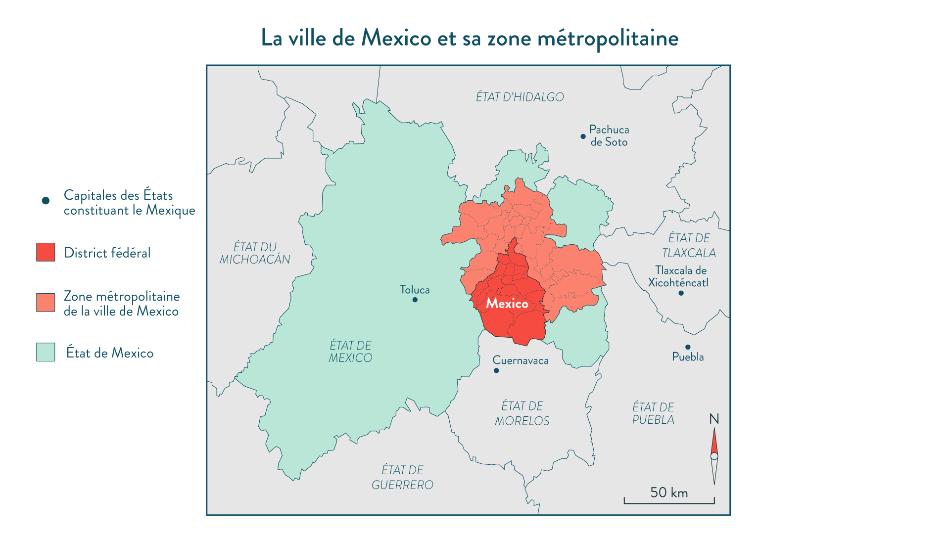 La ville de Mexico et sa zone métropolitaine
