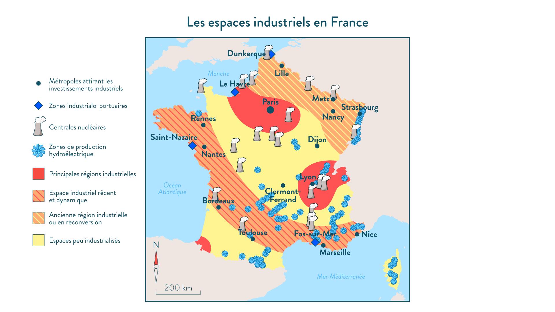 Les espaces industriels en France
