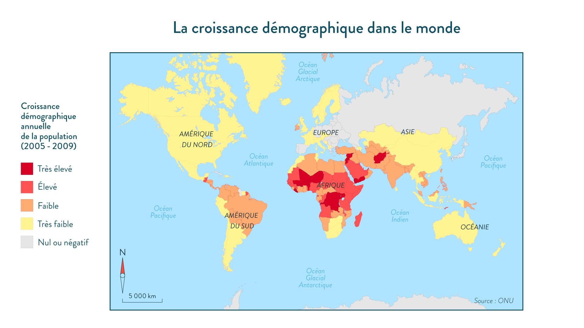 La croissance démographique dans le monde