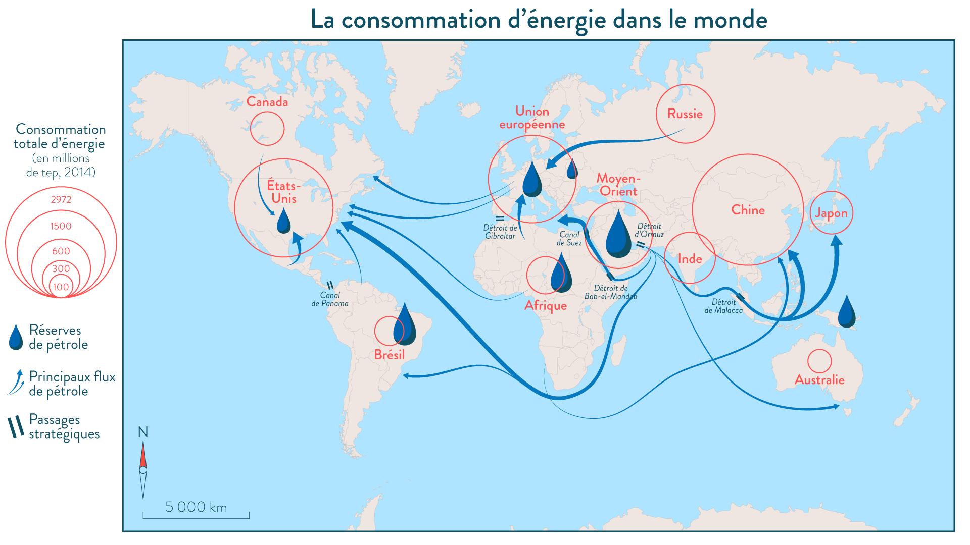 La consommation d'énergie dans le monde