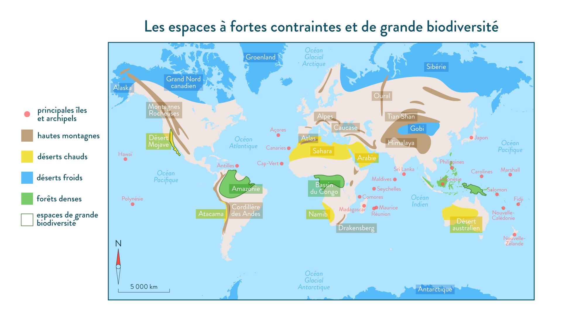 Les espaces à fortes contraintes et de grande biodiversité