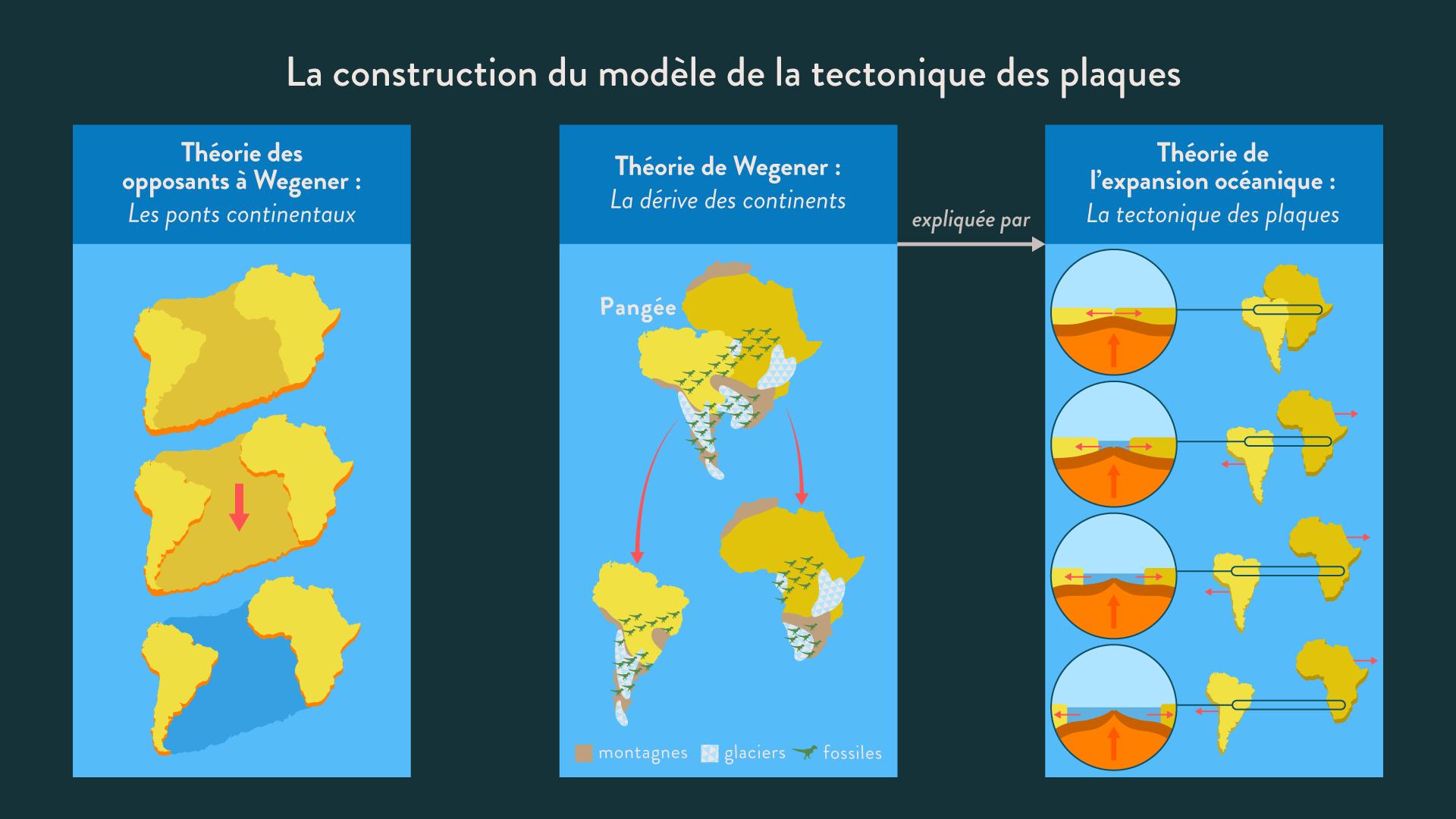 La construction du modèle de la tectonique des plaques