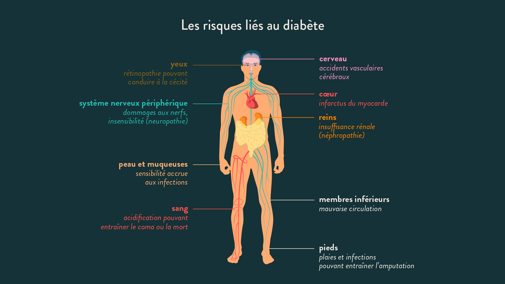 Les risques liés au diabète
