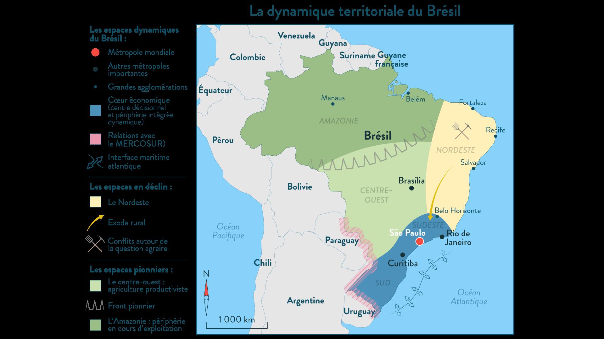 La dynamique territoriale du Brésil