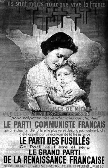 Document 4 : Affiche du Parti communiste français, octobre 1945