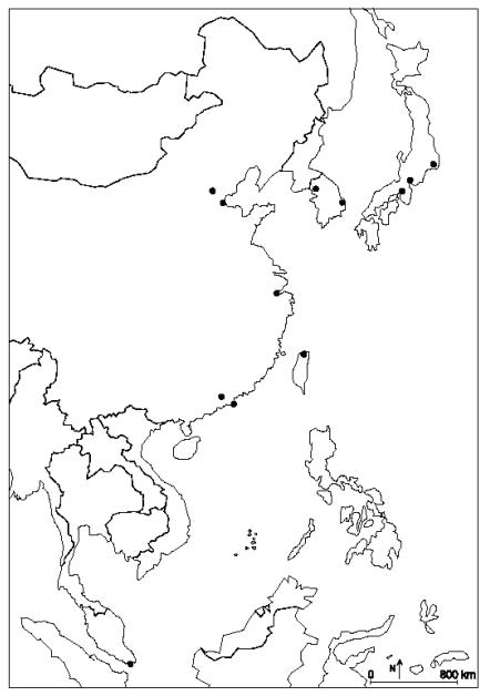 L'Asie orientale, aire de puissance: organisation de l'espace