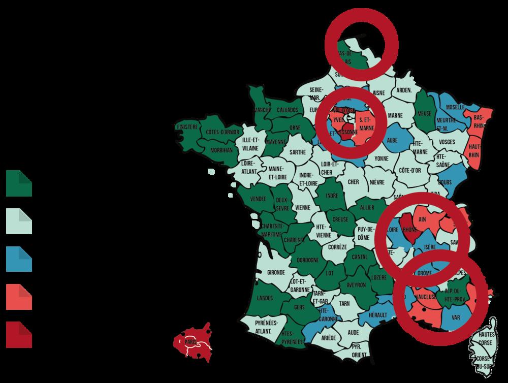 Carte de France des populations issues de l